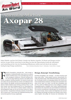 Axopar 28 T-Top / Cabin Test Wassersport 06/2015