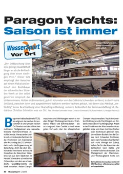 Paragon Yachts - Saison ist immer
